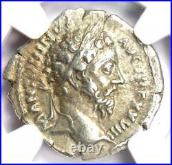 Roman Empire Marcus Aurelius AR Denarius Coin 161-180 AD Certified NGC Ch VF