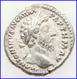 Roman Empire Marcus Aurelius, AR Denarius XF to AU BRILLIANT LIGHT WHITE COIN