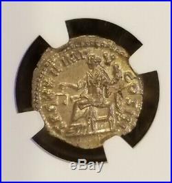 Roman Empire Marcus Aurelius Densarius NGC MS 5/5 Ancient Silver Coin