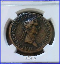 Roman Empire NERVA AE Sestertius NGC Choice Fine Ancient Coin