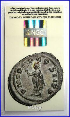 Roman Empire Pupienus AR Denarius Coin 238 AD Certified NGC AU (Certificate)