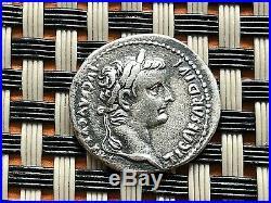 Roman Empire Tiberius 14-37 Ad Ar Denarius Livia As Pax Ancient Roman Coin