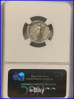 Roman Empire Trajan Silver Denarius Ad 98-117 Ancient Silver Coin