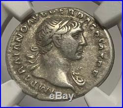 Roman Empire Trajan Silver Denarius Ad 98-117 Ancient Silver Coin Ngc Certified