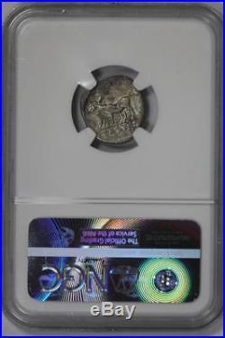 Roman Empire Vespasian AD 69-79 AR Denarius 2.25g RV NGC F Ancient Coin