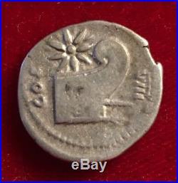 Roman Empire Vespasian Ar Denarius 77-78 Ad Prow Of Galley Ancient Silver Coin