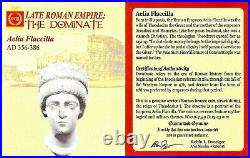 Roman Empress Aelia Flacilla Coin NGC Certified VF With Story, Certificate