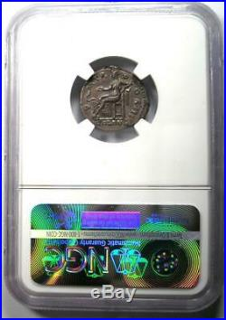 Roman Hadrian AR Denarius Coin 117-138 AD NGC XF 5/5 Strike and Surfaces