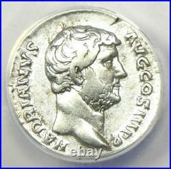 Roman Hadrian AR Denarius Silver Coin 134-138 AD Certified ANACS VF30