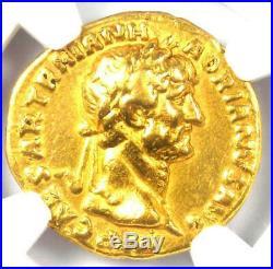 Roman Hadrian Gold AV Aureus Coin 117-138 AD Certified NGC VF (Very Fine)