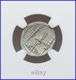 Roman Imperatorial Marc Antony Denarius NGC Choice VF 4/4 ancient silver coin