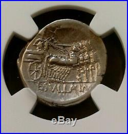 Roman Imperatorial Sulla Denarius NGC Choice VF Ancient Silver Coin
