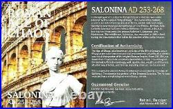 Roman Julia Cornelia Salonina Bronze Coin NGC Certified XF & Story Certificate