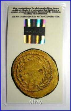 Roman Julius Caesar Gold AV Aureus Coin (44 BC) NGC Choice VF (Certificate)