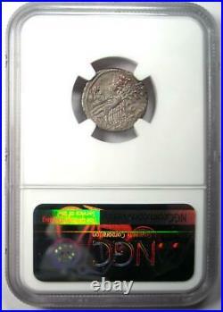 Roman L. Ap. Saturninus AR Denarius Coin 104 BC Certified NGC Choice XF