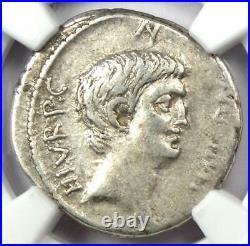 Roman Marc Antony AR Denarius Silver Coin 41 BC Certified NGC VF (Very Fine)