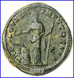 Roman Marcus Aurelius AE Dupondius Coin 161-180 AD Choice VF / XF