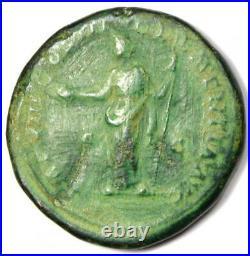 Roman Marcus Aurelius AE Sestertius Coin 161-180 AD VF / XF