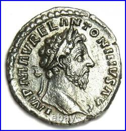 Roman Marcus Aurelius AR Denarius Silver Coin 161-180 AD Choice VF / XF