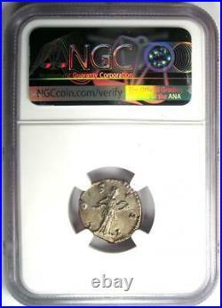 Roman Marcus Aurelius AR Denarius Silver Coin 161-180 AD NGC Choice XF
