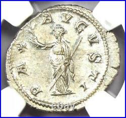 Roman Maximinus I AR Denarius Coin 235-238 AD NGC MS (UNC) Condition