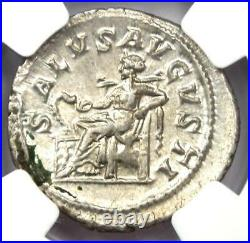 Roman Maximinus I AR Denarius Silver Coin 235-238 AD Certified NGC AU
