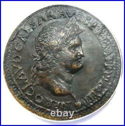Roman Nero AE Sestertius Copper Coin 65 AD Certified ANACS VF25