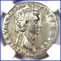 Roman Nerva AR Silver Cistophorus Coin 96-98 AD Certified NGC VF (Very Fine)