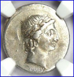 Roman Octavian Augustus AR Denarius Silver Coin 30 BC Certified NGC Choice VF
