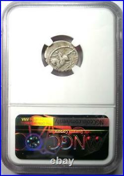 Roman Octavian Augustus AR Denarius Silver Coin 41 BC Certified NGC VF