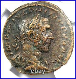Roman Philip I AE Sestertius Coin 244-249 AD Certified NGC Choice VF