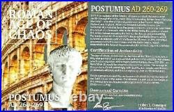 Roman Postumus Antoninianus Bronze Double Denarius Coin NGC Certified AU & Story