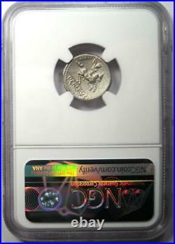 Roman Pub Crepusius AR Denarius Horse Coin 82 BC Certified NGC Choice XF (EF)