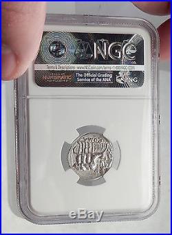 Roman Republic 130BC Rome JUPITER 4 Horse Chariot Ancient Silver Coin NGC i62351