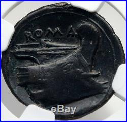 Roman Republic 217BC Rare TIME of WAR v HANNIBAL Ancient Coin MERCURY NGC i82699