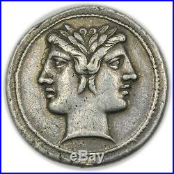 Roman Republic (225-214 BC) AR Didrachm, Quadrigatus Rare Ancient Coin 3756.01