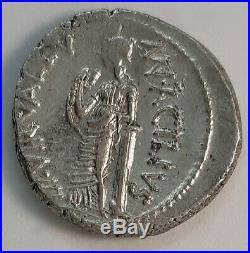Roman Republic 49 BC. Man. Acilius Glabrio Superb Denarius. Ancient Silver Coin