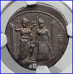 Roman Republic 75BC Rome LIBERTY VENUS CUPID Ancient Silver Coin NGC ChVF i60165