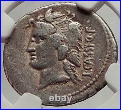 Roman Republic 78BC Rome Ancient Silver Coin LIBER LIBERA Bacchus NGC i62471