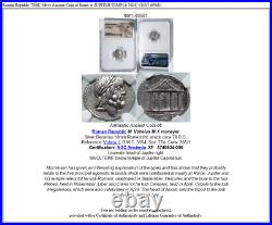 Roman Republic 78BC Silver Ancient Coin of Rome w JUPITER TEMPLE NGC CERT i85681