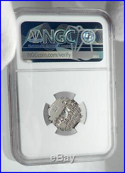 Roman Republic 81BC CERES & BULLS Plowing Ancient Silver Roman Coin NGC i80906