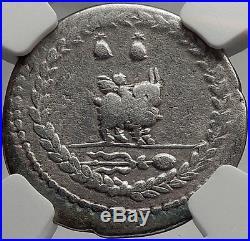 Roman Republic 85BC Rome Ancient Silver Coin VEJOVIS & GENIUS on GOAT NGC i61955