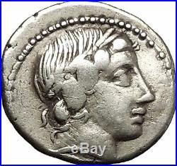 Roman Republic 86BC ANONYMOUS Apollo Zeus Sulla Time Ancient Silver Coin i53860