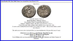 Roman Republic 96BC Mars Mallet Warrior Hero Ancient Silver Coin of Rome i53444