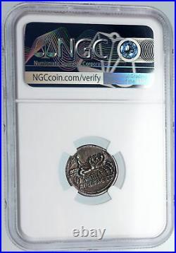 Roman Republic Ancient 111BC Silver Coin GREEK WAR CHARIOT Victory NGC i89837
