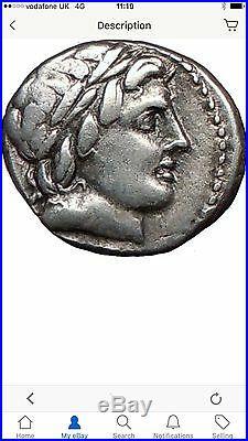 Roman Republic Anonymous 86 B. C Apollo & Zeus Horse Ancient Silver Coin