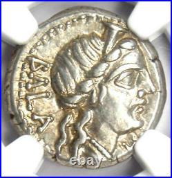 Roman Republic C. Allius Bala AR Denarius Coin 92 BC Certified NGC Choice XF