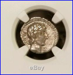 Roman Republic C. Vibius C. F. Pansa Denarius NGC Choice VF Ancient Coin