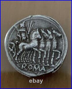 Roman Republic Denarius 130 BC Ancient Coin
