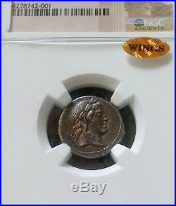 Roman Republic L. Censorinus Denarius NGC Choice XF 5/4 Ancient Silver Coin